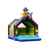 Western springkasteel met speels design te huur bij Jan Bogaerts in België